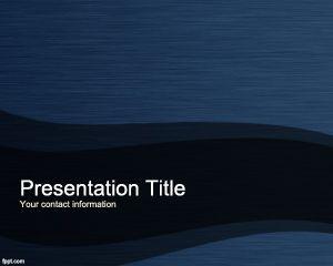 Blue Titanium PowerPoint Template PPT Template