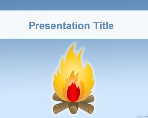 Bonfire powerpoint template for Cub scout powerpoint template