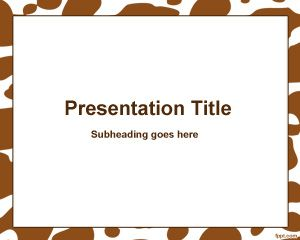 Brown spots frame PowerPoint Template PPT Template