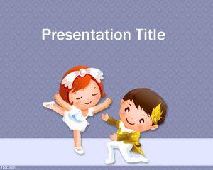 Cartoon Dancing PowerPoint Template