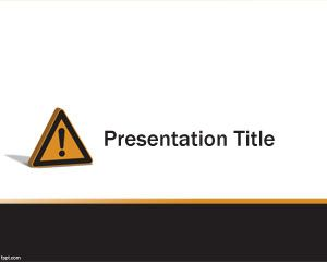 Caution PowerPoint Template