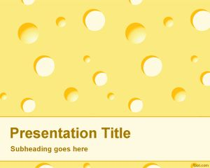 Plantilla PowerPoint de Queso PPT Template