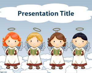 Plantilla PowerPoint de Coro de Angeles PPT Template