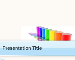 Color Tubes PowerPoint Template PPT Template