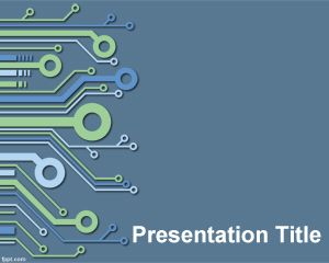 Electronic PowerPoint Template PPT Template