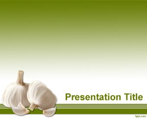Plantilla PowerPoint de Ajo PPT Template