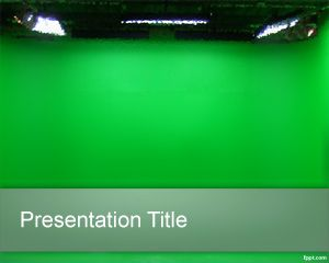 Green chrome PowerPoint Template PPT Template