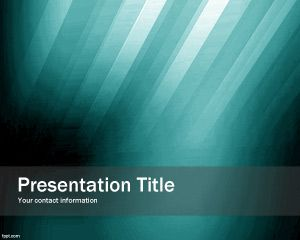 Green Impaction PowerPoint Template PPT Template