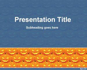 Halloween Cucurbit PowerPoint Template PPT Template