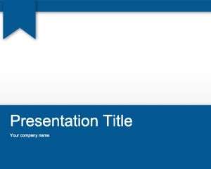 Free Homework PowerPoint Template with Blue and white background slide