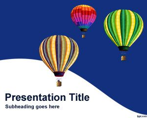 Hot air balloons PowerPoint Template PPT Template