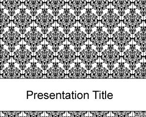 Old black fashioned PowerPoint template PPT Template