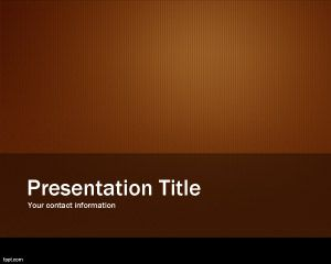 Orange Metallic Slide Template PPT Template