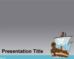 Plantilla PowerPoint de Barco Pirata