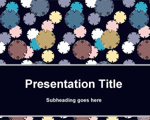 Round Pieces PowerPoint Template PPT Template