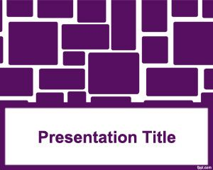 Rounded Squares PowerPoint Template PPT Template