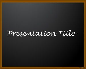 School Board PowerPoint Template PPT Template