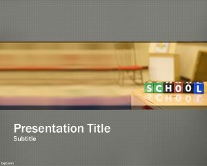 School Planning PowerPoint Template PPT Template