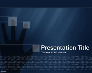 Technology security powerpoint template free technology security powerpoint template with fingers and hand toneelgroepblik Choice Image