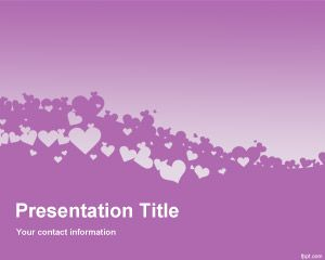 Violet Love PowerPoint Template PPT Template