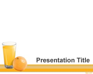 Free Vitamin C PowerPoint Template with white background in the slide design and orange juice