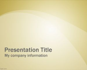 Yellow Professional Slide PowerPoint PPT Template