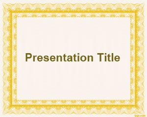 Basic Frame PowerPoint Template PPT Template