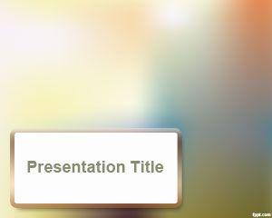 Blur effect PowerPoint Template PPT Template