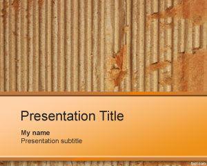 Cardboard PowerPoint Template box