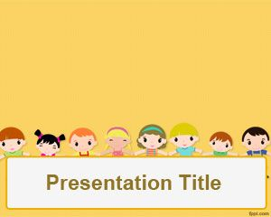 Children's day PowerPoint Template PPT Template