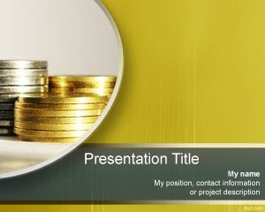 Plantilla PowerPoint de Monedas PPT Template