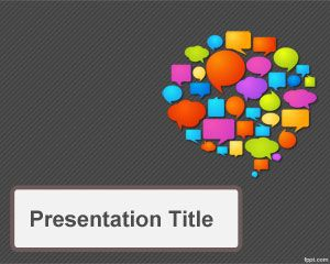 Communications Strategy PowerPoint Template PPT Template