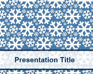 Frozen background template for PowerPoint with ice shapes