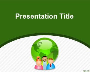 Green Communication PowerPoint Template PPT Template