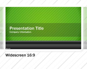 Green Widescreen PowerPoint Template PPT Template