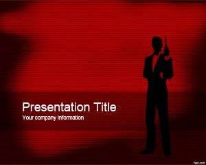 James Bond PowerPoint plantilla PPT gratis