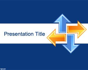 Blue Online Learning PowerPoint Template with Opposite Arrows