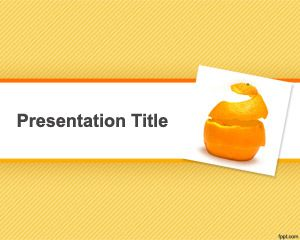 Orange Peel PowerPoint Template PPT Template