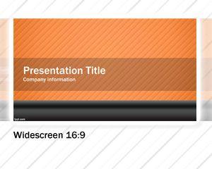 Orange Widescreen PowerPoint template design