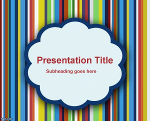 Types of Clouds PowerPoint Template PPT Template