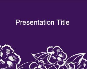 Free Flower Picture Downloads on Wildflower Powerpoint Template   Free Powerpoint Templates