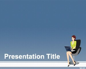 Women at Work PowerPoint Template PPT Template