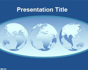 World continents PowerPoint Template