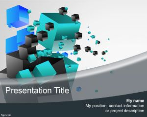 Plantilla PowerPoint de Cubos 3D