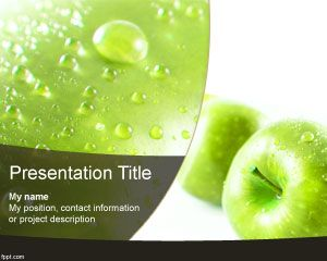 green apple powerpoint template