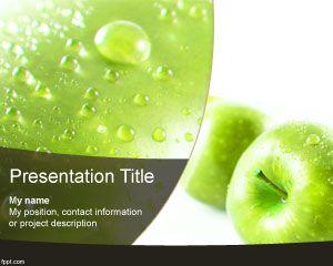 Plantilla PowerPoint de Manzana Roja PPT Template