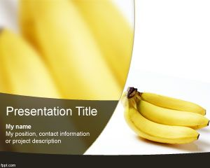 Plantilla PowerPoint de Plátano