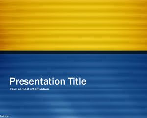 Blue Time PowerPoint Template PPT Template