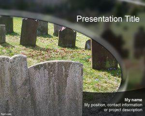 Plantilla PowerPoint de Cementerio