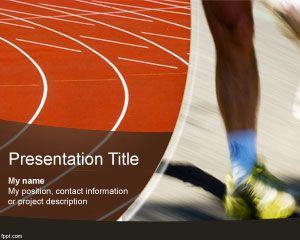 Plantilla PowerPoint de Pista de Atletismo